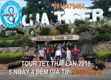 Tour  Thái Lan Tết 2019,5 ngày 4 đêm khởi hành Hà Nội
