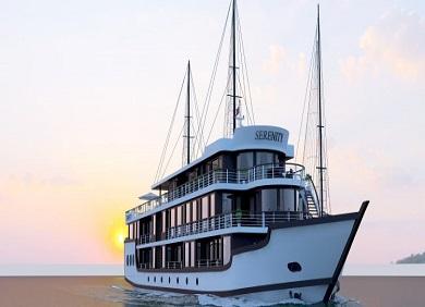 Halong Serenity Cruises- Tour ngủ du thuyền Halong Cao Cấp  2 ngày 1 đêm